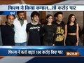 Mumbai: Janhvi Kapoor, Ishaan Khatter, Karan Johar dazzle at the success bash of 'Dhadak'