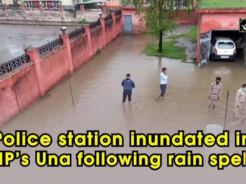 Police station inundated in HP's Una following rain spell