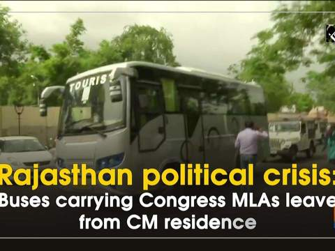Rajasthan political crisis: Busses carrying Congress MLAs leave from CM residence