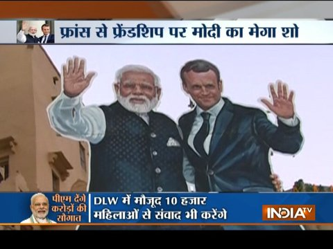 Preparations in full-swing for Narendra Modi and Emmanuel Macron's Varanasi visit