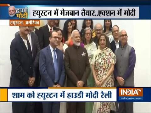 अमेरिका में मोदी: प्रधानमंत्री ने ह्यूस्टन में कश्मीरी पंडितों के साथ की बातचीत