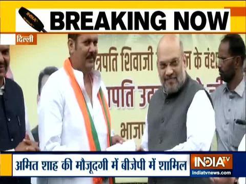 शिवाजी महाराज के वंशज उदयन राजे भोसले भारतीय जनता पार्टी में हुए शामिल
