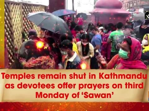 Temples remain shut in Kathmandu as devotees offer prayers on third Monday of 'Sawan'