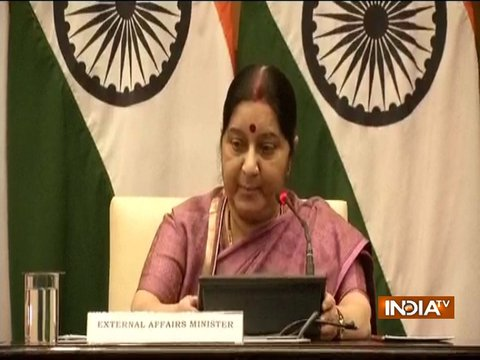 EAM Sushma Swaraj addresses media on killing of 39 Indians in Iraq's Mosul