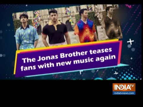 The Jonas Brother teases fans with new music again