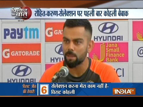 Selection is not my job, says Virat Kohli on Karun Nair's omission