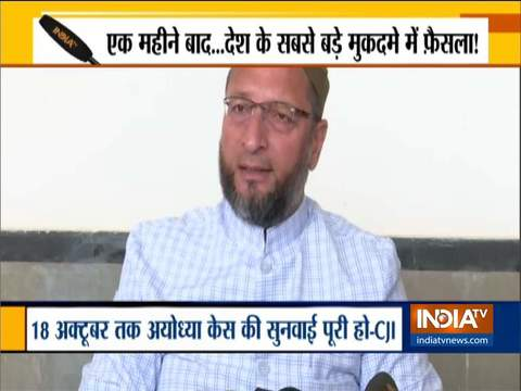 How can NDA and alliance predict SC's judgement in favour of Hindus: Owaisi