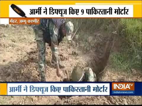 जम्मू और कश्मीर: भारतीय सेना ने मेंढर में 120 एमएम के मोर्टार के 9 जिंदा गोले नष्ट किये