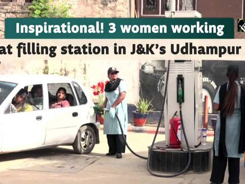 Inspirational! 3 women working at filling station in J&K's Udhampur