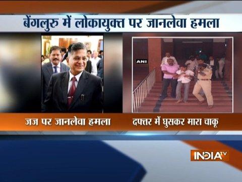 Karnataka Lokayukta Justice Vishwanath Shetty stabbed at his office in Bengaluru