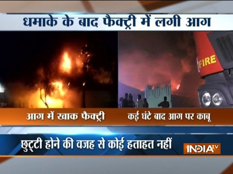 Fire breaks out at a factory in Kanpur