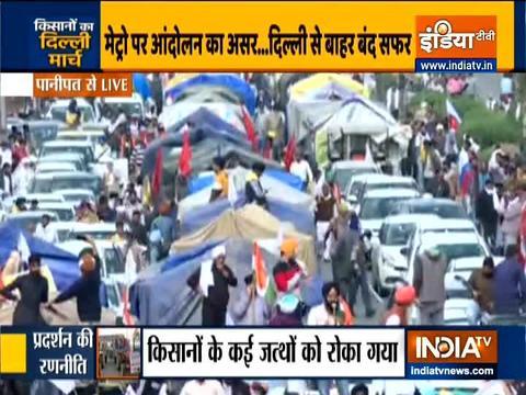 किसानों आंदोलन: दिल्ली-चंडीगढ़ हाईवे पर फंसे यात्री