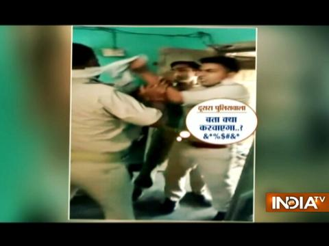 Cop scuffle inside police station over distribution of illegal money in Saharanpur