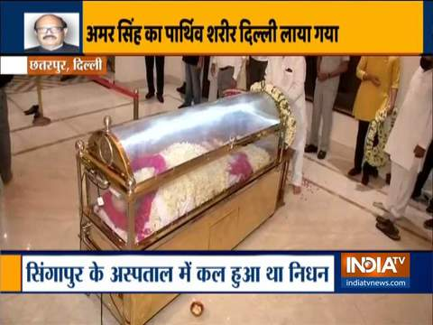 Amar Singh's mortal remains brought to New Delhi