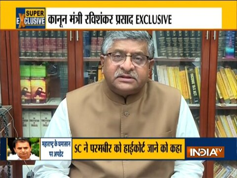 Exclusive: Union Minister Ravi Shankar Prasad slams Maha govt over sachin waze case