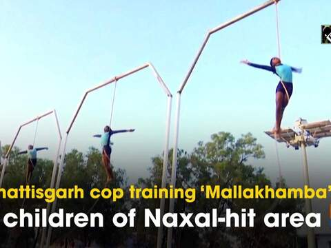 Chhattisgarh cop training 'Mallakhamba' to children of Naxal-hit area