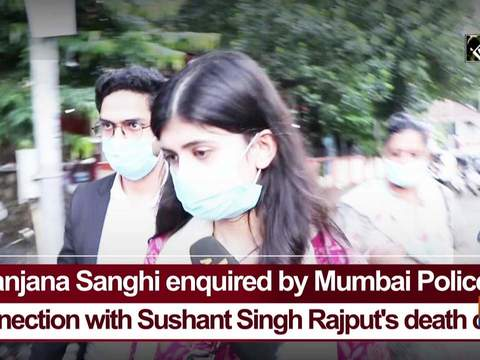 Sanjana Sanghi enquired by Mumbai Police in connection with Sushant Singh Rajput's death case