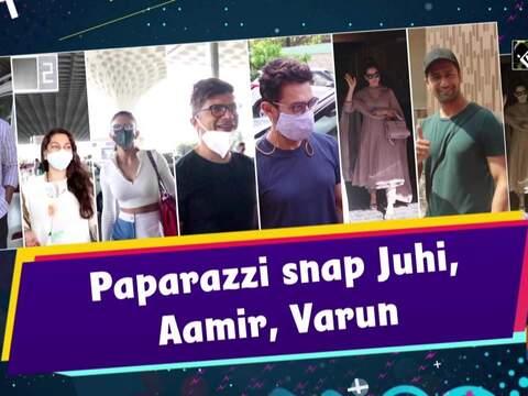 Paparazzi snap Juhi, Aamir, Varun