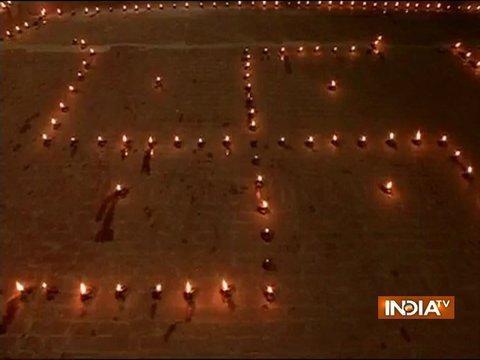 Dev Deepawali being celebrated at Ganga Ghat in Varanasi