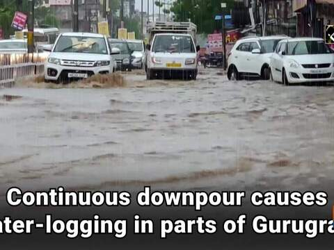 Continuous downpour causes water-logging in parts of Gurugram