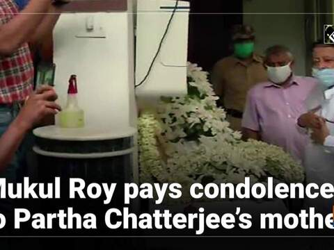Mukul Roy pays condolences to Partha Chatterjee's mother