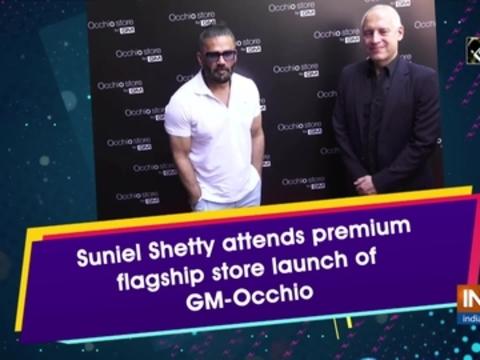 Suniel Shetty attends premium flagship store launch of GM-Occhio