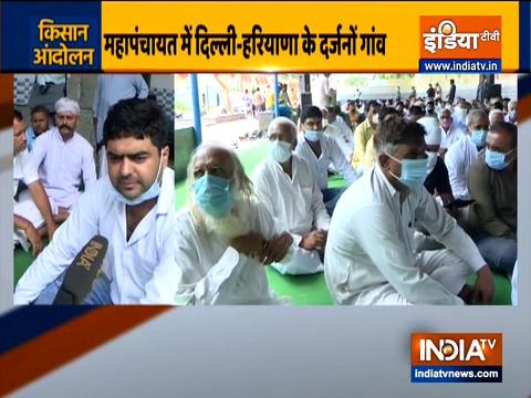 Haryana: Farmers holds Mahapanchayat at Sersa, Sonipat