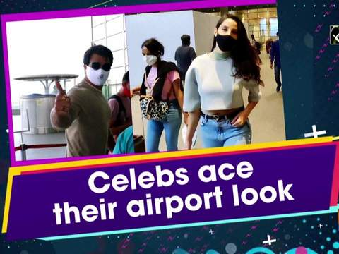 Celebs ace their airport look