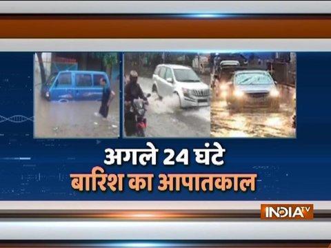 भारी बरसात के चलते बेहाल हुई मुंबई
