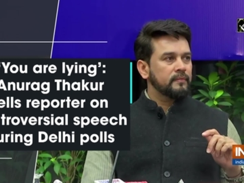 'You are lying': Anurag Thakur tells reporter on controversial speech during Delhi polls