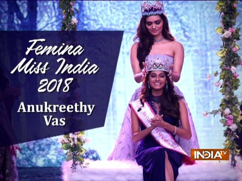 Anukreethy Vas from Tamil Nadu crowned Miss India World 2018