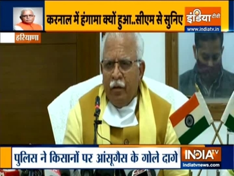 'I think Congress and Communist parties have a major role behind these agitations': Haryana CM Manohar Lal Khattar
