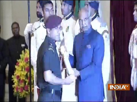 MS Dhoni receives Padma Bhushan seven years after India's World Cup victory
