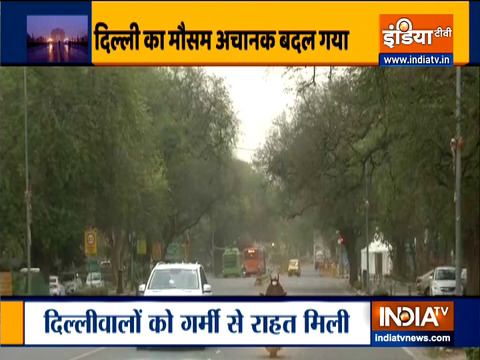 Thunderstorm, light rain bring temperature down in Delhi-NCR
