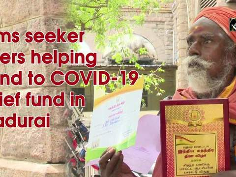 Alms seeker offers helping hand to COVID-19 relief fund in Madurai
