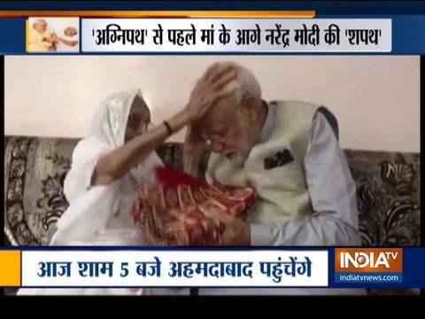 On Gujarat visit, PM Modi to seek mother's blessings today