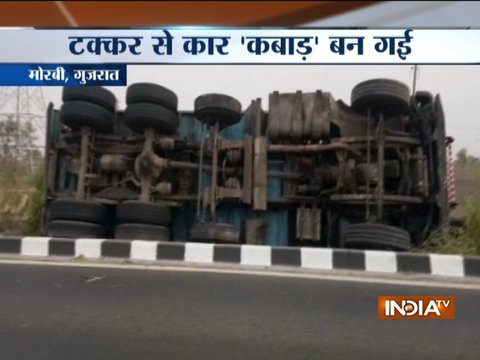 3 killed after car-truck collision in Gujarat's Morbi