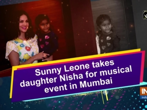 Sunny Leone takes daughter Nisha for musical event in Mumbai