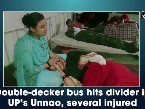 Double-decker bus hits divider in UP's Unnao, several injured