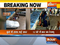 Watch: Car drowned in manhole in Mumbai