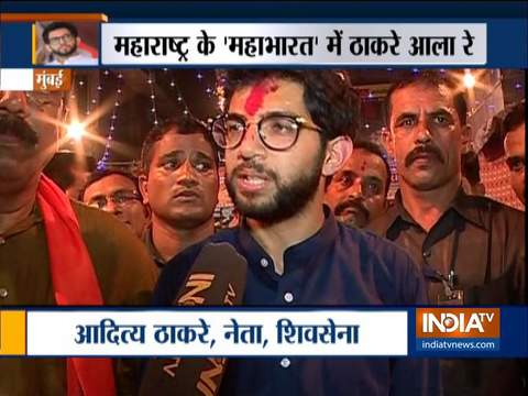 Shiv Sena leader Aaditya Thackeray holds mega roadshow in Mumbai's Worli