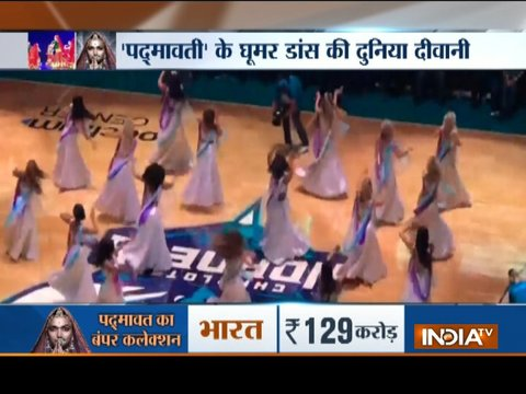 US: Foreigners perform Ghoomar song at an NBA basketball court in Charlotte