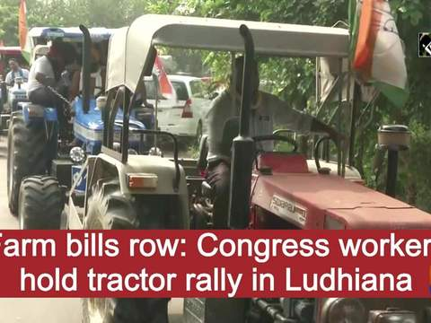 Farm bills row: Congress workers hold tractor rally in Ludhiana
