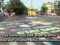 'Stay Home, Stay safe' street graffitis in Kolkata alert travellers amid corona lockdown