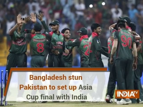 Bangladesh stun Pakistan to set up Asia Cup 2018 final with India