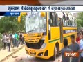Public goes violent after school bus mows down a couple in Gurugram