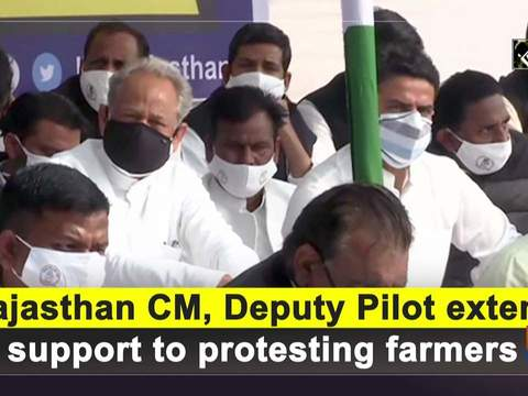 Rajasthan CM, Deputy Pilot extend support to protesting farmers