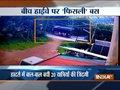 Karnataka: Passengers have miraculous escape as bus turns turtle in Mangaluru