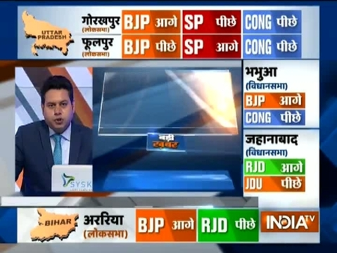 UP, Bihar Bypoll Results: BJP leads in Araria and Bhabua, RJD ahead in Jehanabad