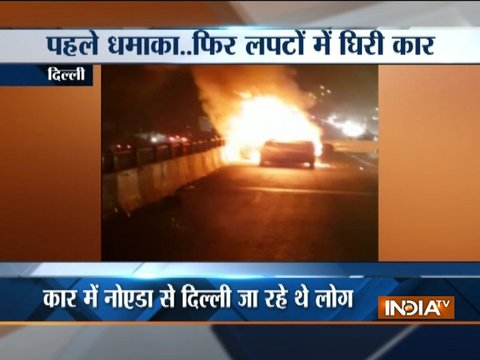 Car catches fire in Delhi, no casualty reported